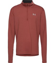 ua streaker 2.0 half zip t-shirts long-sleeved röd under armour