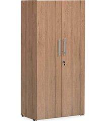 armário alto 2 portas fechado 1,60x0,75x0,38 castanho giobel