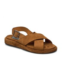plateau heelstring simple shoes summer shoes flat sandals brun apair