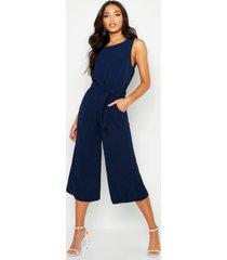 culotte jumpsuit, marineblauw