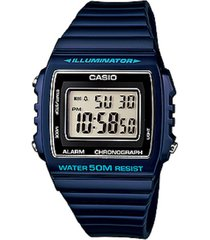 reloj casio digital w-215h-2a- azul