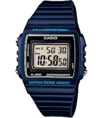 reloj casio digital w-215h-2a- azul