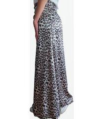 falda larga animal print  mlk