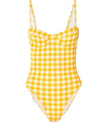 bea gingham underwired swimsuit
