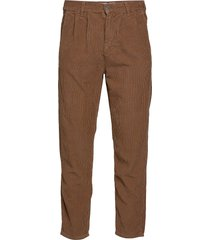 box corduroy casual byxor vardsgsbyxor brun just junkies