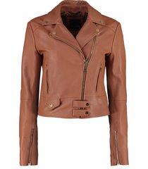 pinko sensibile leather biker jacket