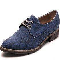 zapato casual pitón azul heels.d