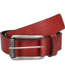 cinturón cuero liso con perforaciones rojo panama jack