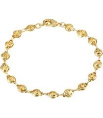 2028 gold-tone happy face chain bracelet