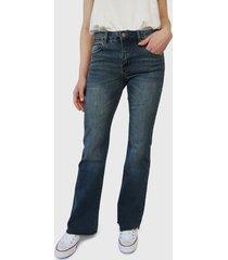jeans rip curl flare azul - calce regular