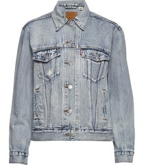 exboyfriend trucker extraordin jeansjack denimjack blauw levi´s women