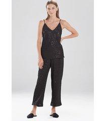 natori decadence cami pajamas set, lingerie, women's, black, size m natori