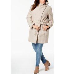 calvin klein plus size belted coat