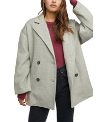 women's free people hannah slouchy double breasted blazer, size x-large - green