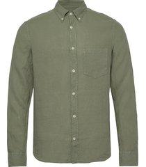 fredrik bd-clean linen overhemd casual groen j. lindeberg