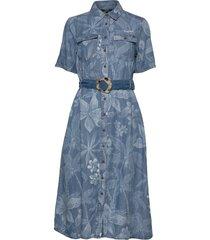 vest kate jurk knielengte blauw desigual