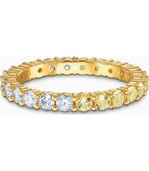 anello vittore half, tono dorato, placcato color oro