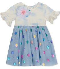 rare editions baby girls tie-dye mesh dress