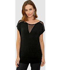 shirt paola zwart::goudkleur