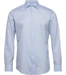 light blue micro woven shirt overhemd business blauw eton