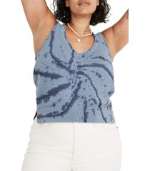 madewell fairview tie dye sweater tank, size small in distant ocean at nordstrom
