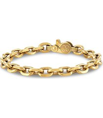 esquire men's jewelry men's gold-tone ion-plated stainless steel chunky chain-link bracelet