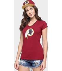 camiseta new era nfl babby look washington redskins feminina