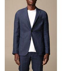 z zegna blazer single-breasted jacket z zegna in linen 250 g