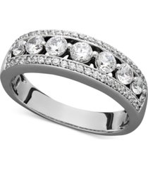 certified diamond band ring (1 ct. t.w.) in 14k white gold