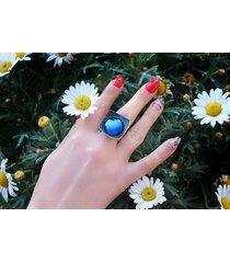 srebrny pierścionek z tytanem