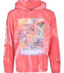 heron preston logo birds print hoodie