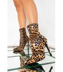 akira always drippin' stiletto leopard bootie