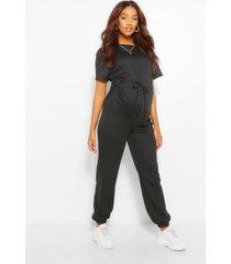 maternity jogger jumpsuit, black