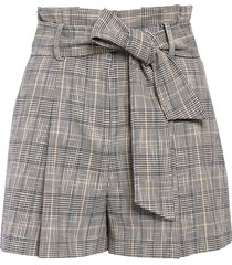women's veronica beard baga plaid paperbag shorts