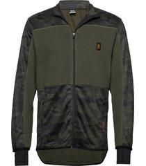 camo fleece jacket sweat-shirts & hoodies fleeces & midlayers grön bula