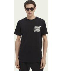 scotch & soda basic t-shirt met logo op de borst