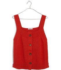 women's madewell rowe button front sweater tank