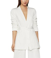 bcbgmaxazria belted one-button jacket