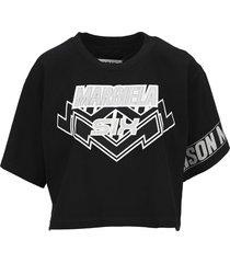 maison margiela mm6 cropped logo t-shirt