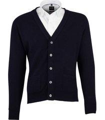 william lockie vest donkerblauw lamswol