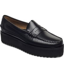 dan wedge w loafers låga skor svart sebago