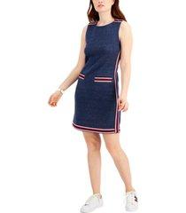 tommy hilfiger striped-trim sleeveless dress