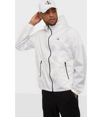 calvin klein jeans zip through hd jacket jackor white