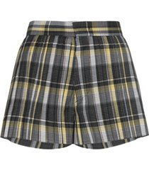 blindness tartan pleated shorts - black
