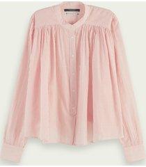 scotch & soda loose fit blouse van biologisch katoen