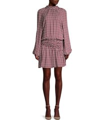 dustin houndstooth drop-waist dress