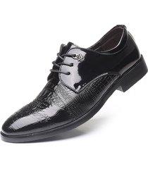 zapatos oxford hombres zapatos de cuero zapatos de punta puntiaguda