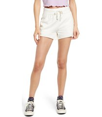 women's bp. french terry shorts, size x-large - ivory