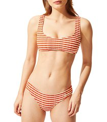 the elle striped bikini top