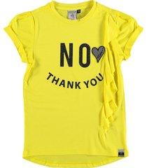 retour soepel geel viscose t-shirt - meisje